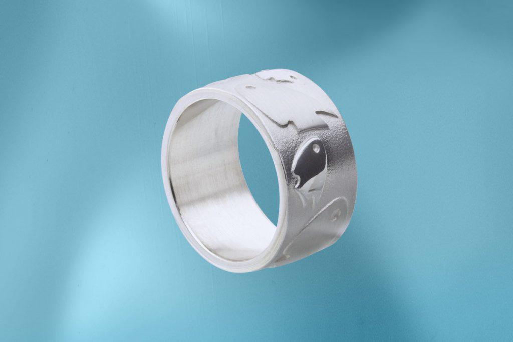 Jo's Inselfische, Ring, Silber
